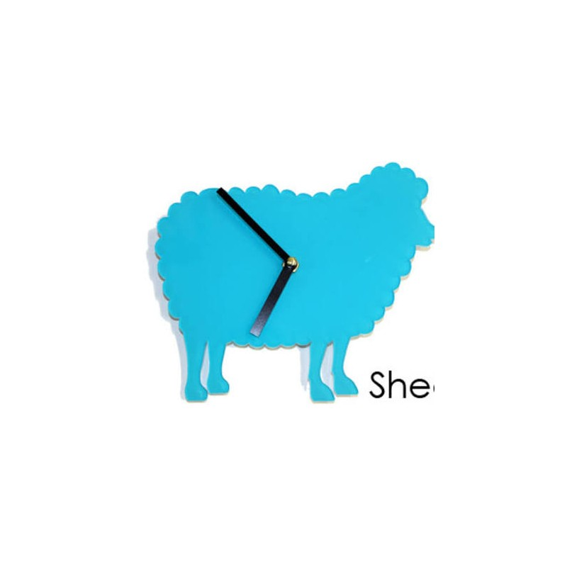 Blue Sheep Acrylic Wall Clock