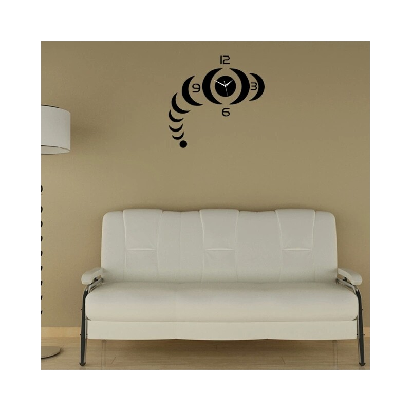 Acr Stipe Acrylic Wall Clock