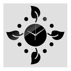 Leafs Design Acrylic Wall Clock