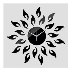 Flower Shape Acrylic Wall Clock