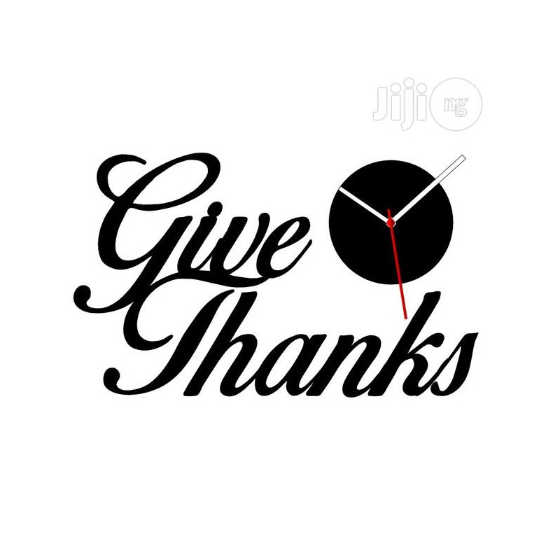 Give Thanks Acrylic Wall Clock