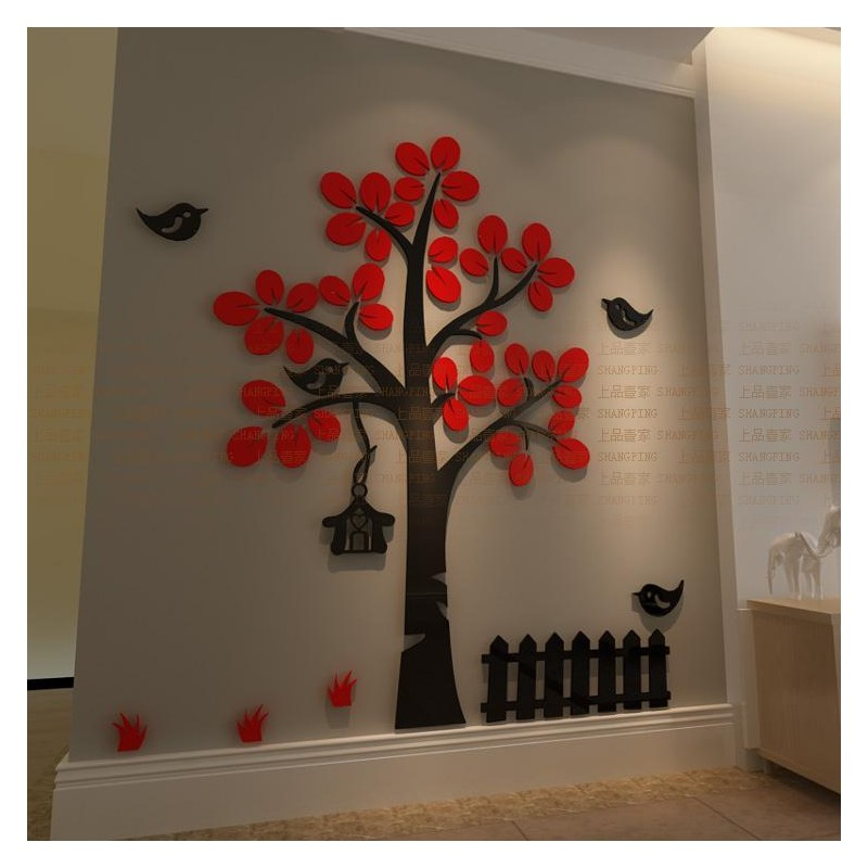 Tree Shape Acrylic Wall Art