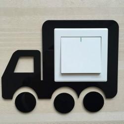 Vehicle Black Acrylic Switch Panel Art