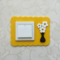 Flower Yellow Acrylic Switch Panel Art