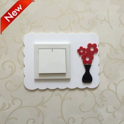 Flower White Acrylic Switch Panel Art