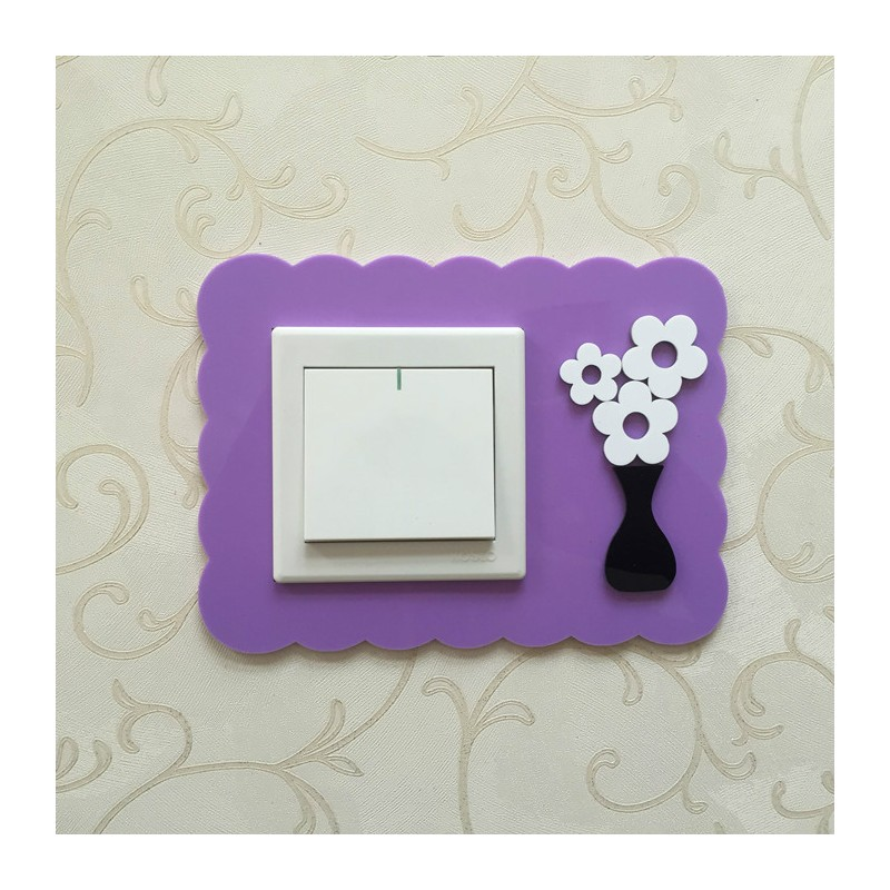 Flower Purple Acrylic Switch Panel Art