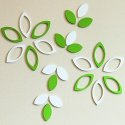 Creative Leaves Acrylic Wall Art