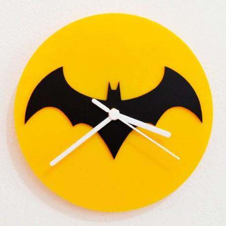 Buy Batman Black Amp Yellow Silhouette Acrylic Wall Clock At