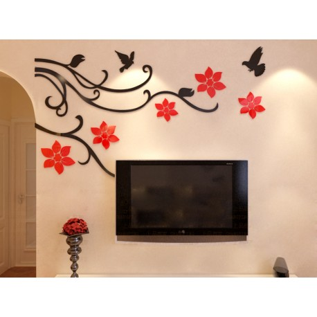 buy flower vine corner bail acrylic wall art at. Black Bedroom Furniture Sets. Home Design Ideas