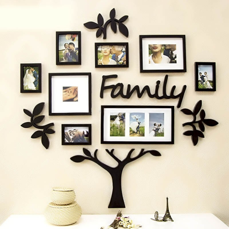 Family Tree Wall Decor Images : Frame set family tree acrylic wall art elifor