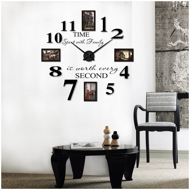 Buy Diy 3d Acrylic Wall Clock With Frames I 108 At Elifor Pk