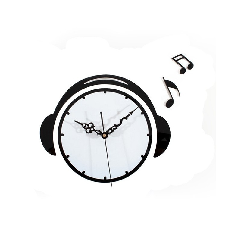 Music & Headphone Acrylic Wall Clock
