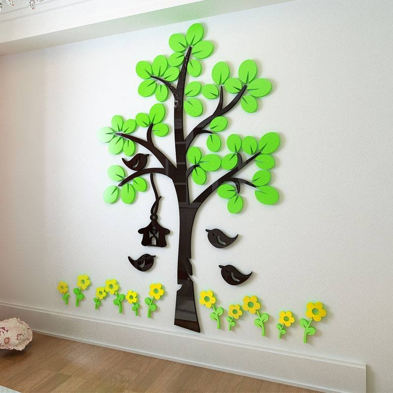 Hallway Flower And Tree Acrylic Wall Art