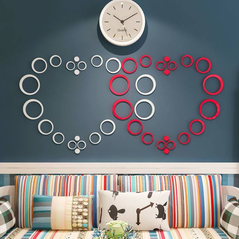 Heart Shape Rings Acrylic Wall Art