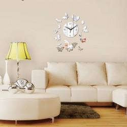 14 Butterflies Acrylic Wall Clock