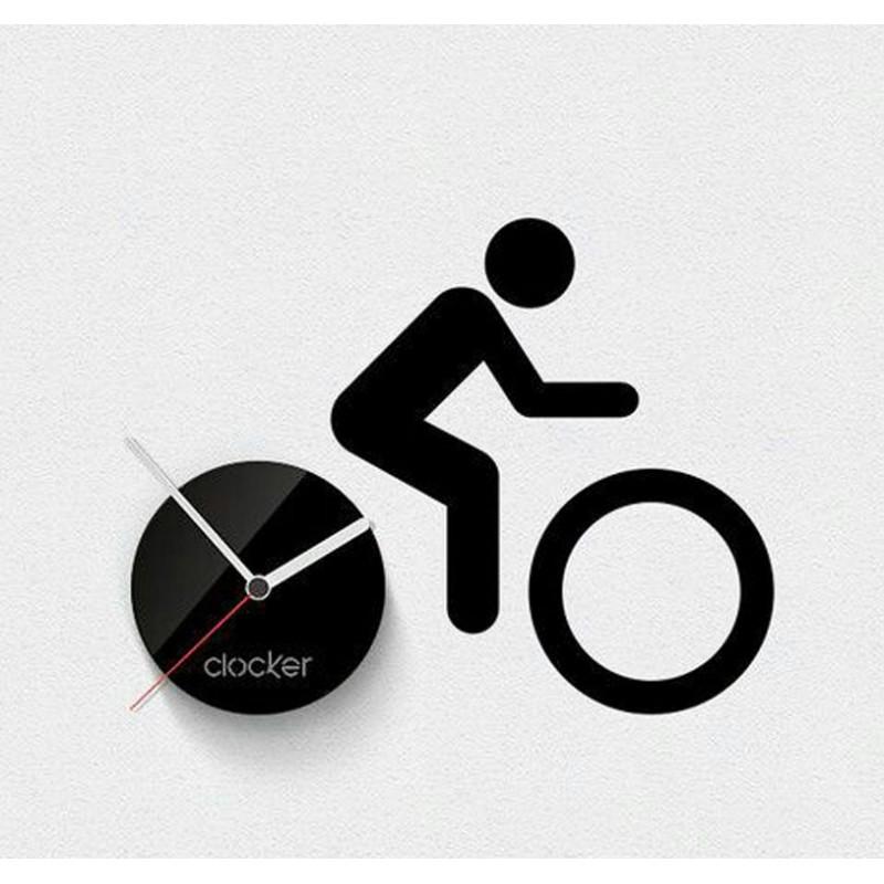 Man on Bike Acrylic Wall Clock