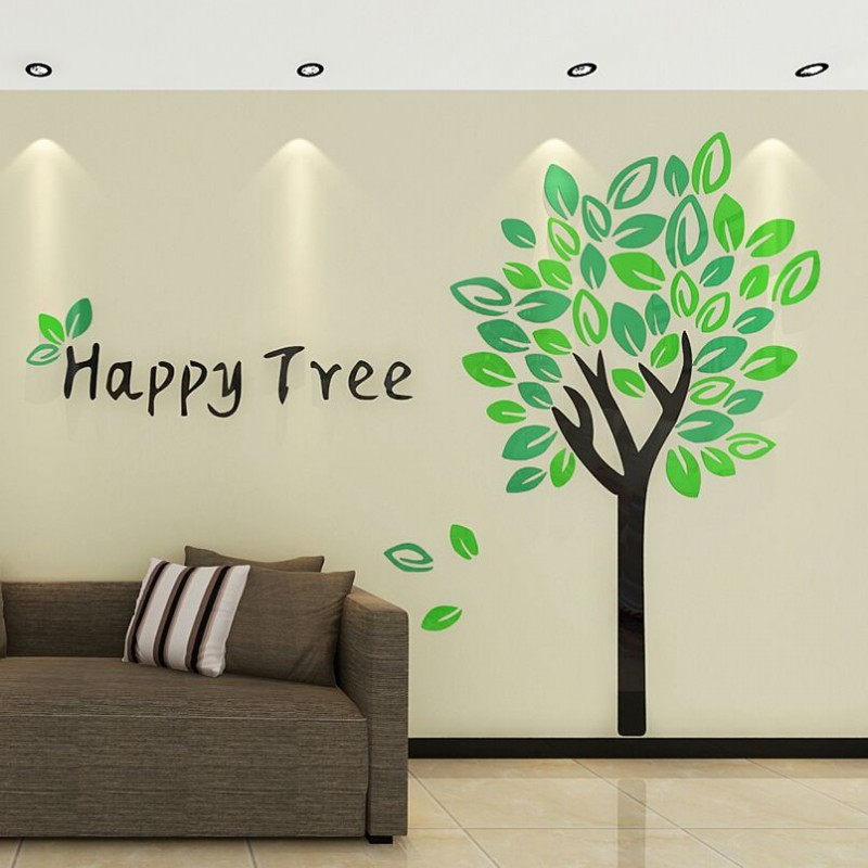 Happy Tree Acrylic Wall Art