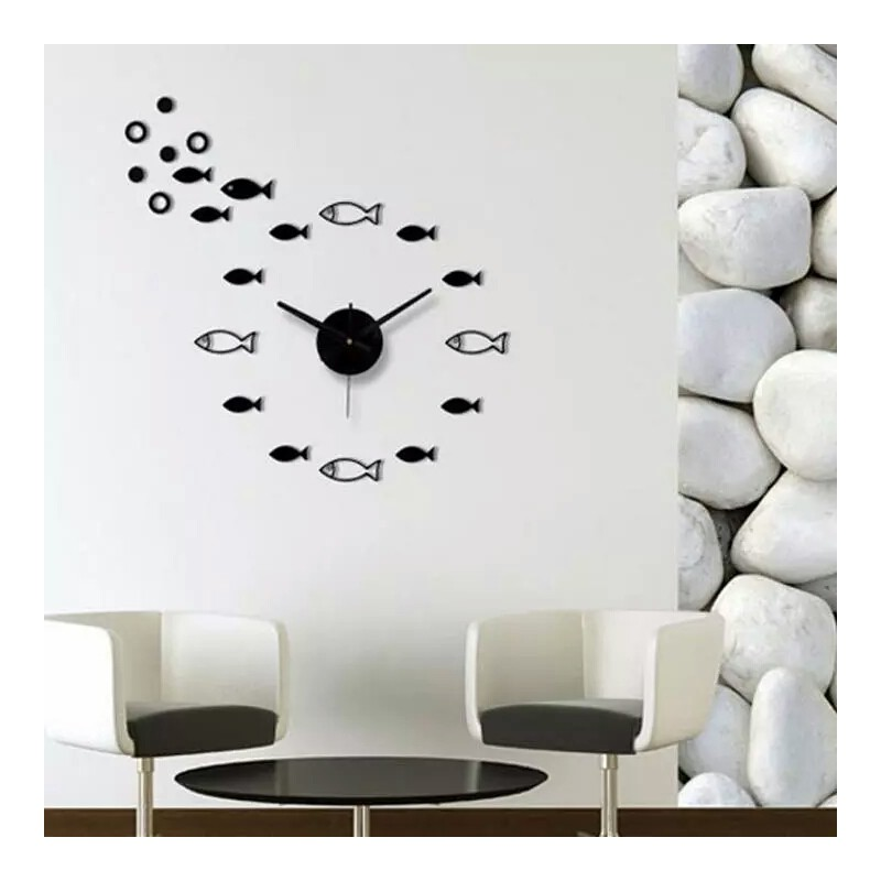 Fish Acrylic Wall Clock
