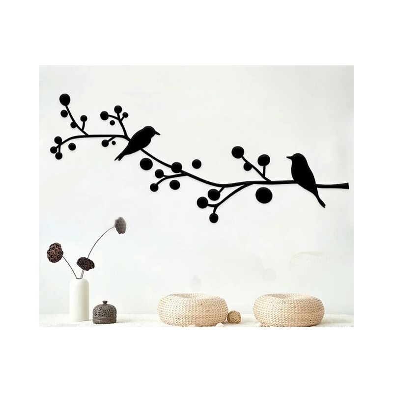 Birds Under The Branches Acrylic Wall Art