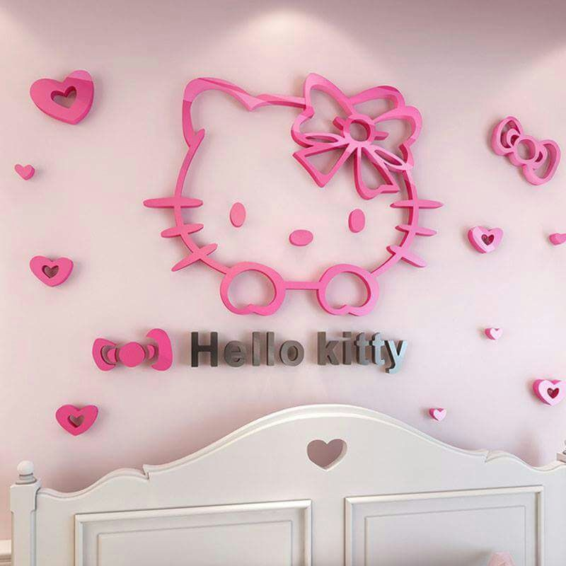 Hello Kitty Acrylic Wall Art