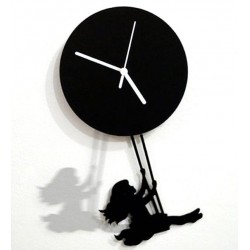 Girl On A Swing Acrylic Wall Clock