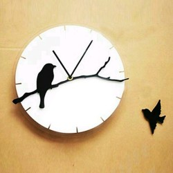 Birds Design Acrylic Wall Clock