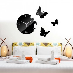Flying Butterfly Acrylic Wall Clock