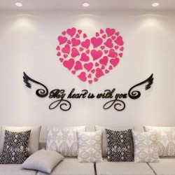 My Heart Acrylic Wall Art