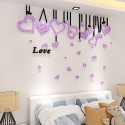 Stereo Love Hearts Acrylic Wall Art