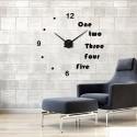 Cooper Half Alphabet Acrylic Wall Clock