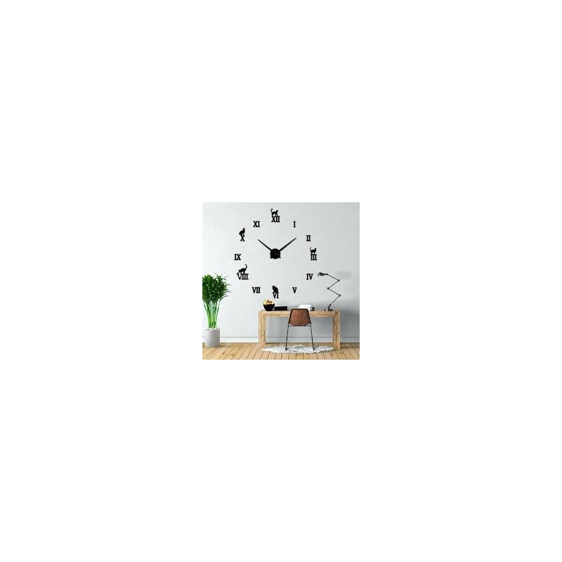 DIY 3D Acrylic Wall Clock I-123