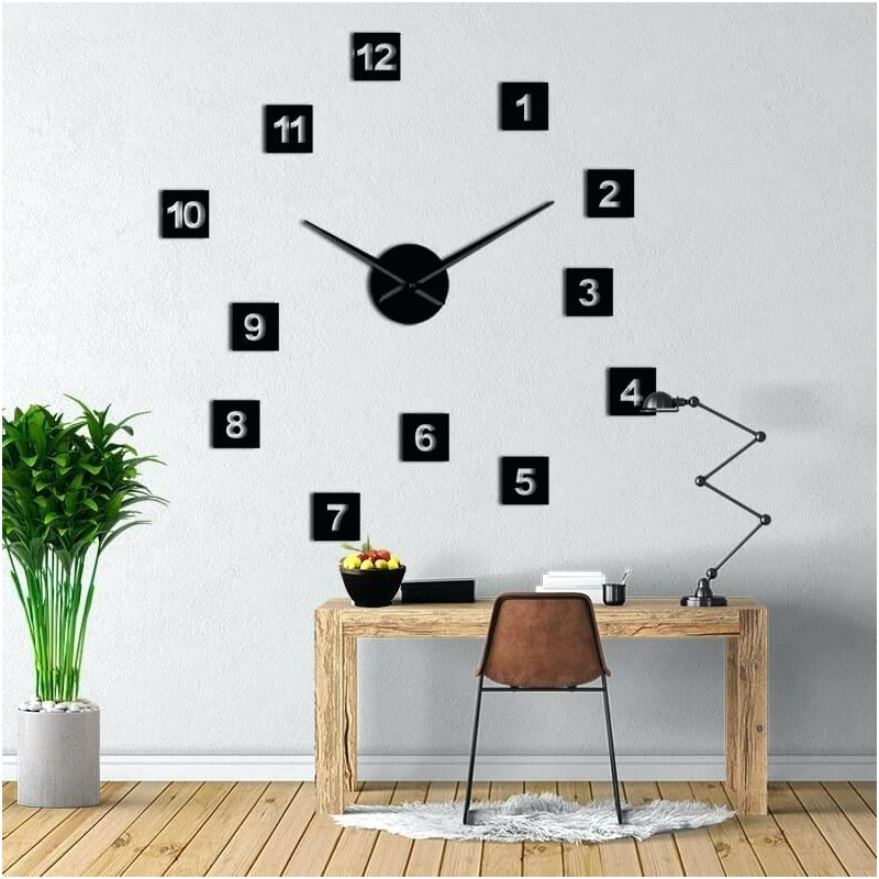 DIY 3D Acrylic Wall Clock I-124