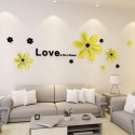 Love is like a Flower Acrylic Wall Art