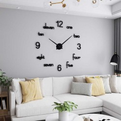 DIY 3D Acrylic Wall Clock I-126